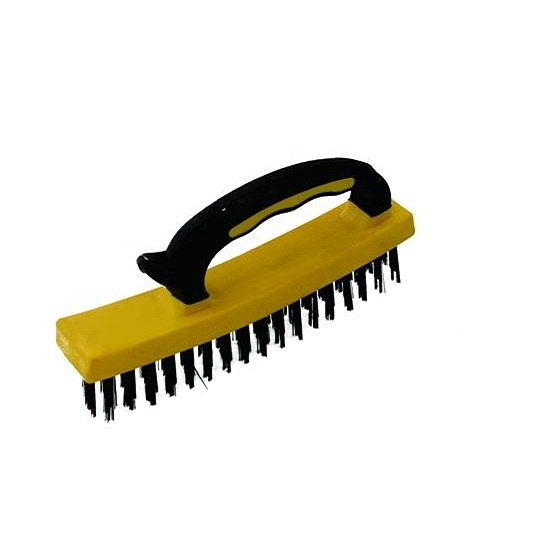 wire brush with plastic handle